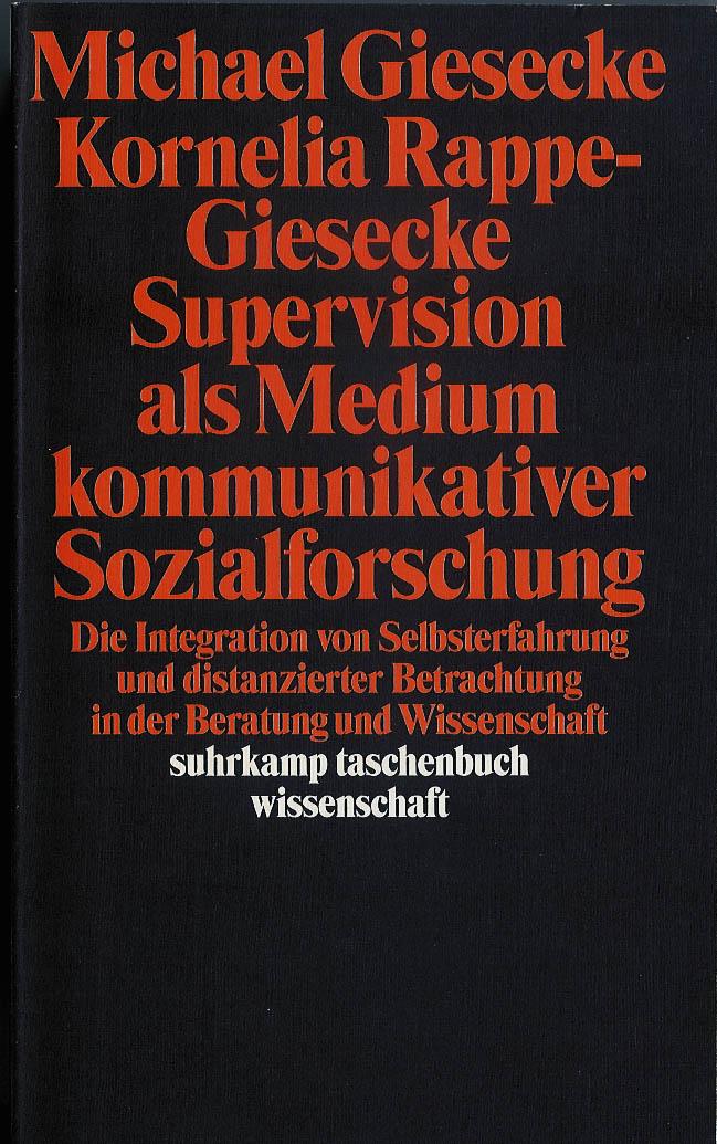 Bucheinband supervision als medium kommunikativer sozialforschung