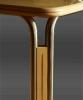 Tisch in Ahorn und Edelstahl (Detail)